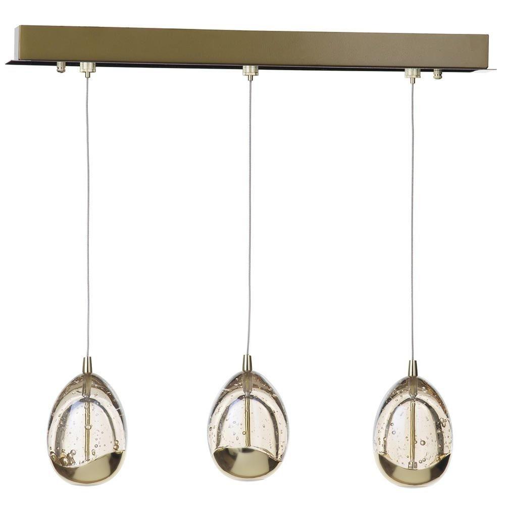 Visconte Bulla 3 Light Ceiling Light Bar Pendant - Gold