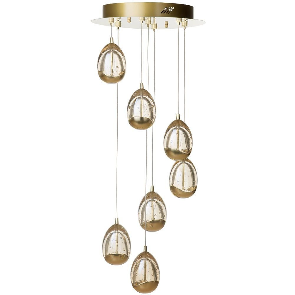 Visconte Bulla 7 Light LED Spiral Cluster Ceiling Light - Gold