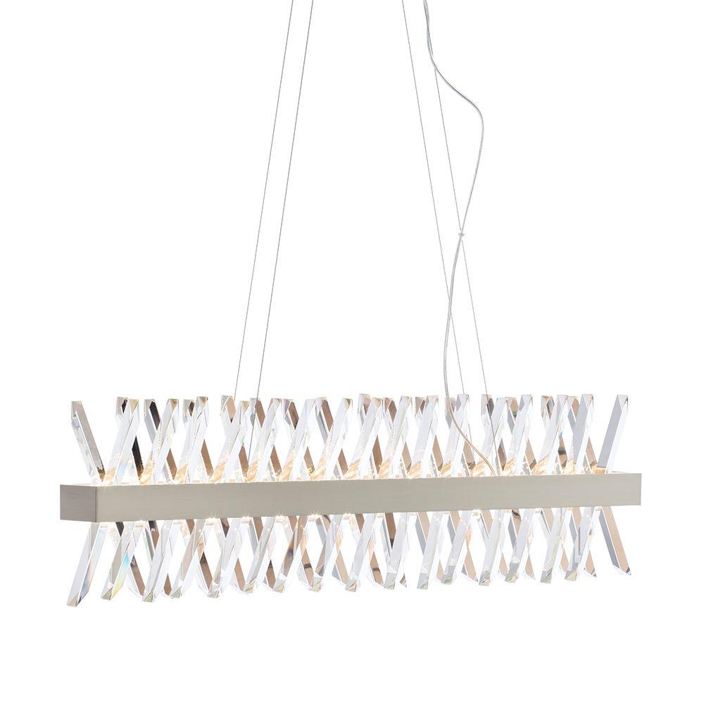 Visconte Flusso Bar Adjustable Ceiling Pendant Light - Satin Nickel