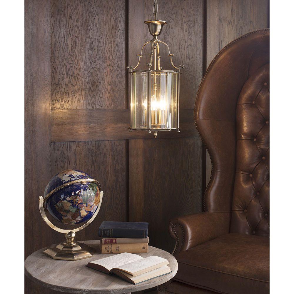 Visconte Lancashire Small 3 Light Ceiling Pendant Lantern