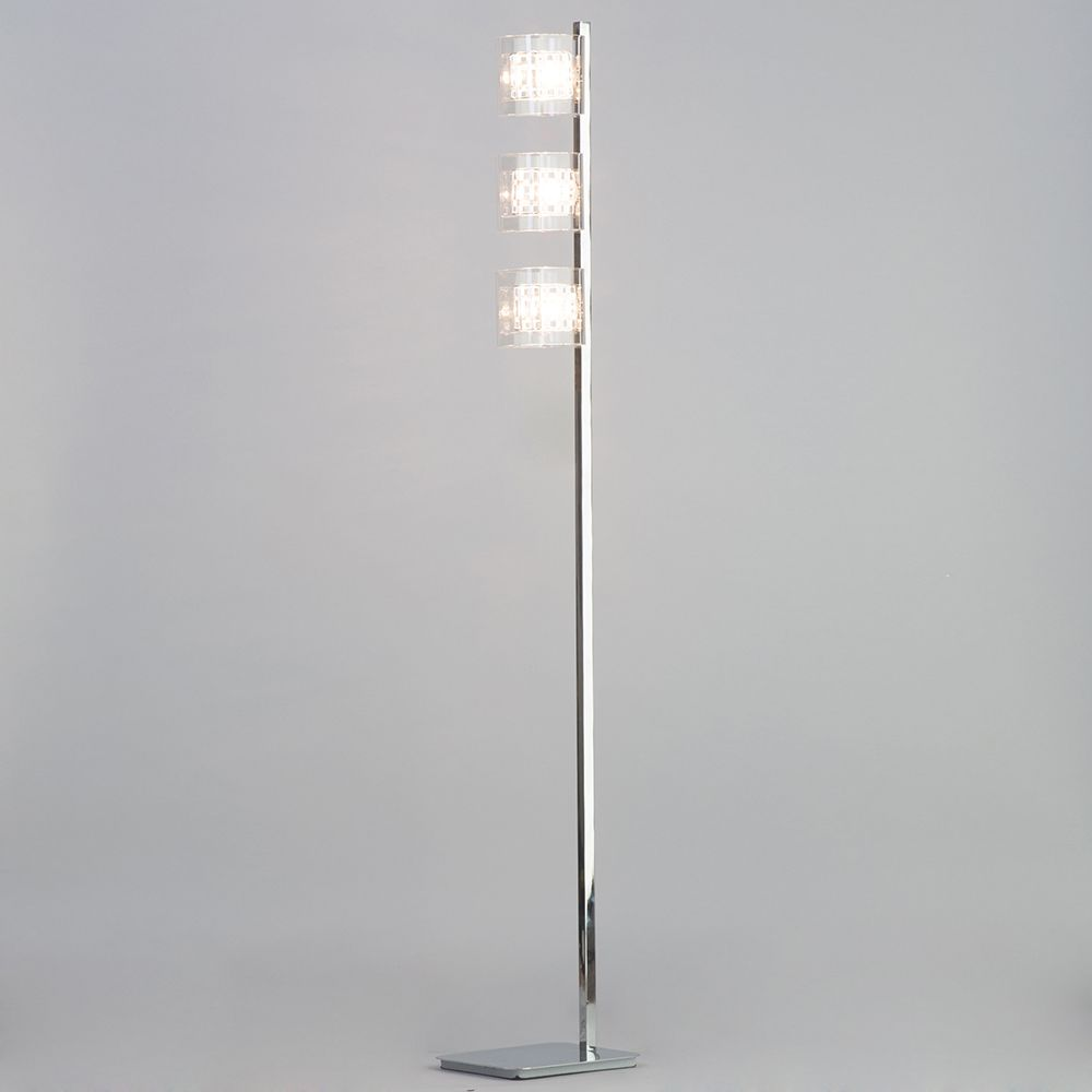 Visconte Lille 3 Light Lattice Cube Floor Lamp with Glass Shades ...