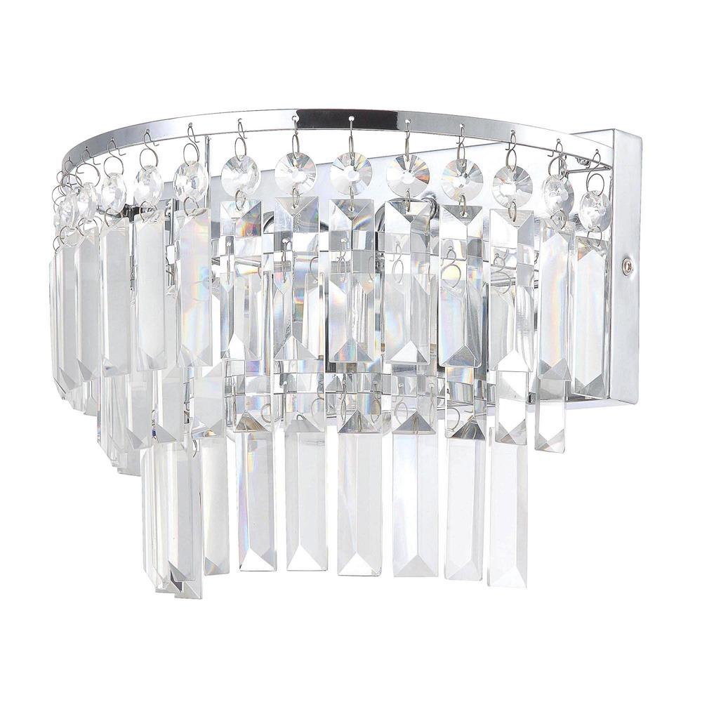 Lighting|Bathroom Lighting|Wall lamps Vasca 2 Light Crystal Bar Bathroom Wall Light - Chrome