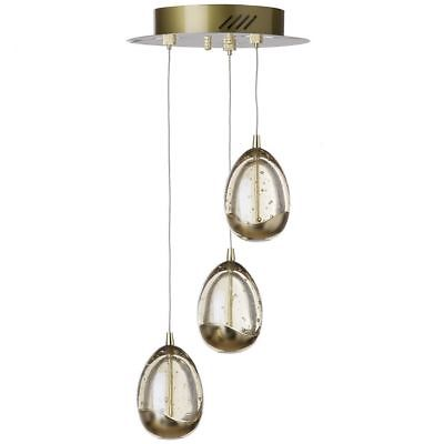 Visconte Bulla 3 Light Ceiling Light Spiral Cluster Pendant - Gold