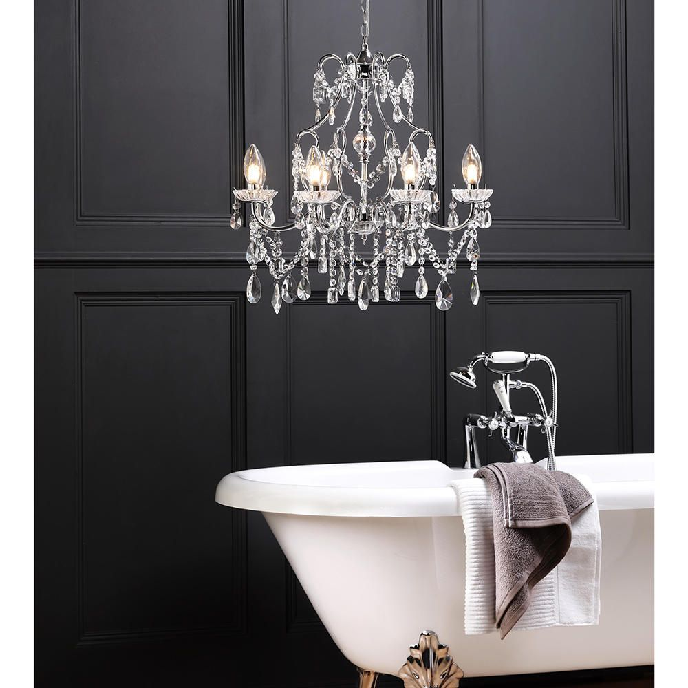 Marquis by waterford annalee led 8 light bathroom chandelier waterford lighting chandelier bathrom freestnding bath ligth arubaitofo Gallery