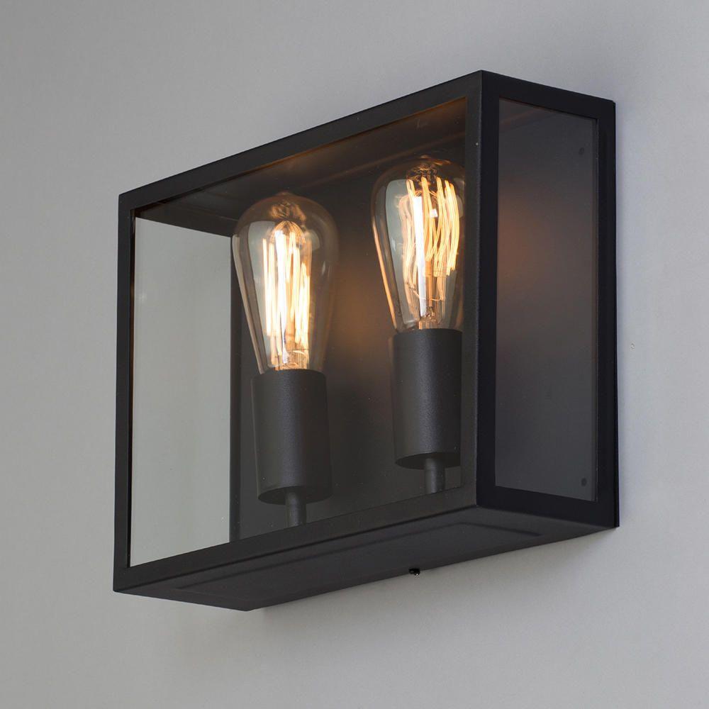Mersey Outdoor Twin Wall Lantern Black from Litecraft