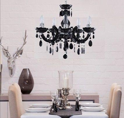Crystal Week : Black Marie Therese Crystal Chandelier