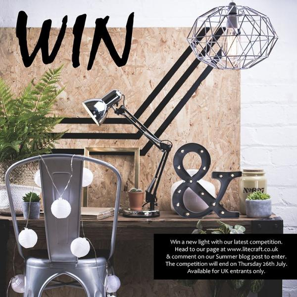 Win a New Light with Litecraft's Summer Competition Inspired by Grillo Designs