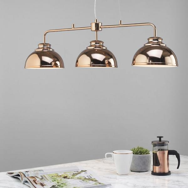 Hanging Pendant Lighting over a Kitchen Island