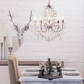 Add a festive sparkle with our Madonna Crystal Chandeliers