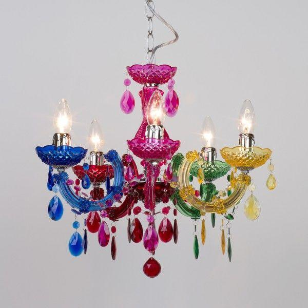 How to make a style statement with coloured chandeliers
