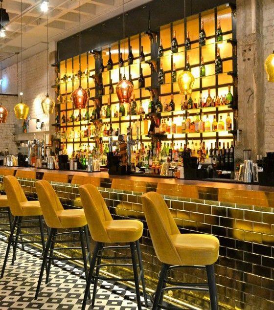 Mustard Interior Styling at Neighbourhood Bar & Eatery