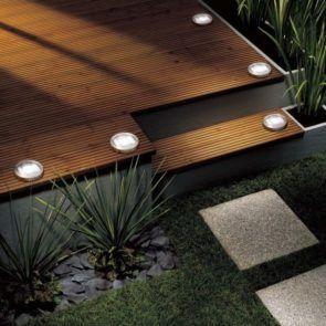 Ideas to help light your outdoor steps and raised areas