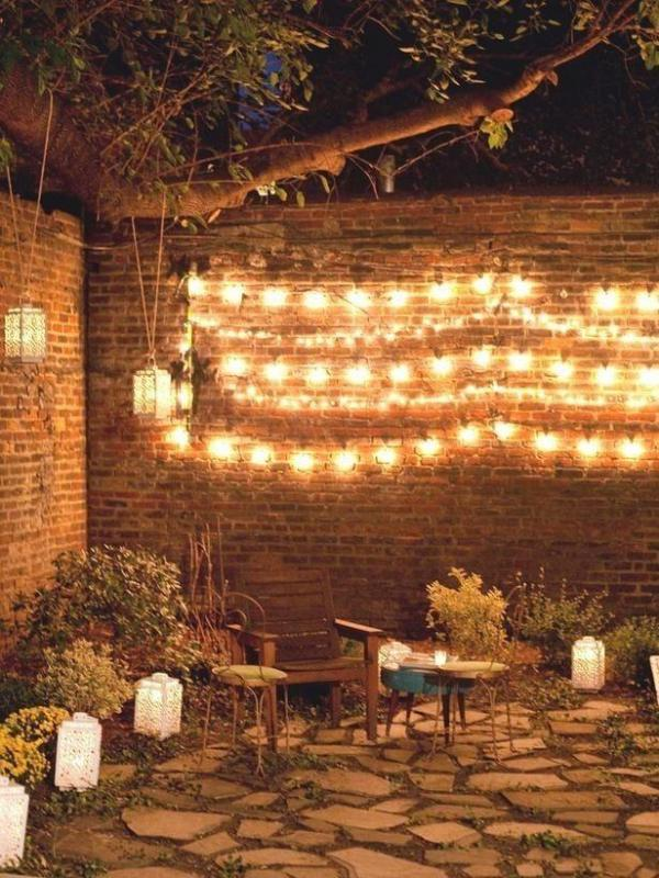 Shimmering Oasis : Garden Party Lighting Ideas