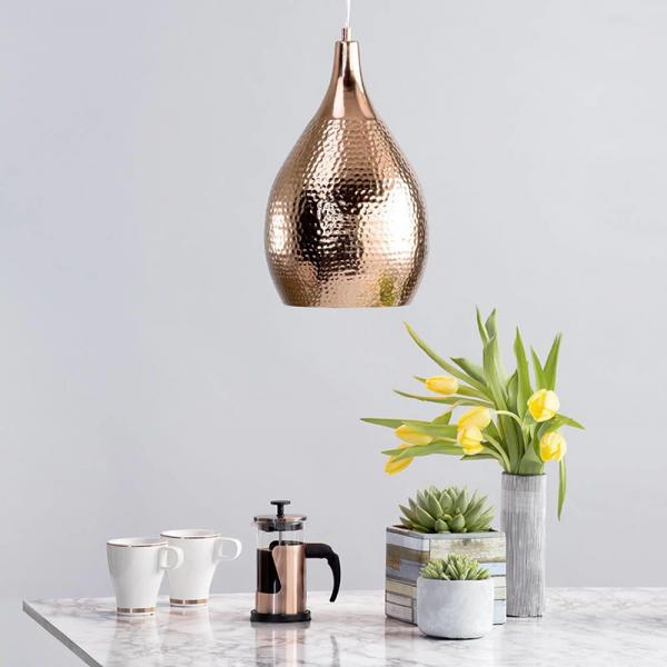 Home Style Magazine - Hammered Copper Shade and Decorative Cables