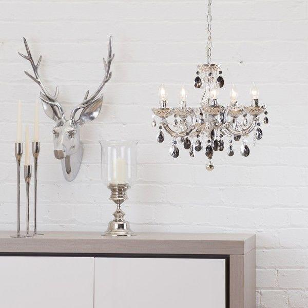 Crystal Week : Silver Marie Therese Crystal Chandelier