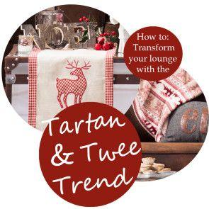 Transform your lounge with the tartan and twee trend