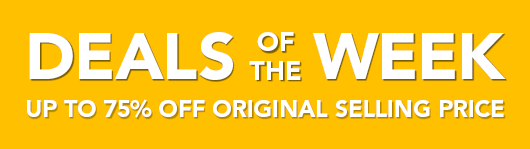 New Items Added - Deals of the Week - Upto 75% off Original Selling Price