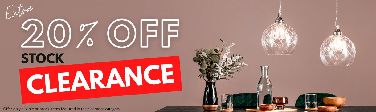 20% off Clearance Stock