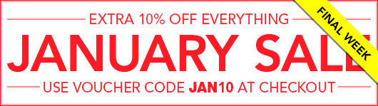 January Sale - Use JAN10 at Checkout