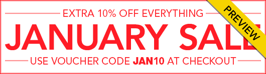 January Sale Preview - Use JAN10 at Checkout