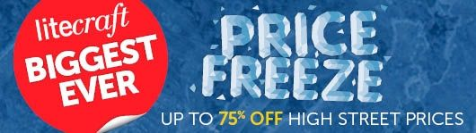 Biggest Ever Price Freeze - Up to 75% off high street prices