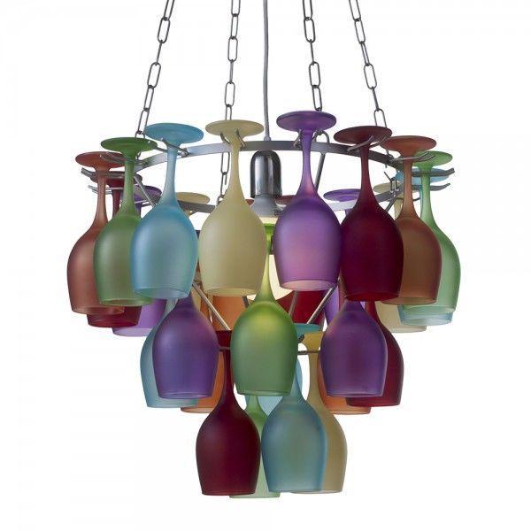 Multi coloured wine glass chandelier litecraft when aloadofball Images