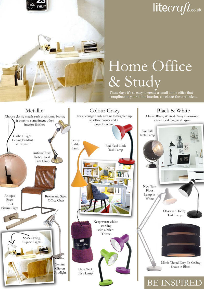 Home Study & Home Office Lighting Look Book