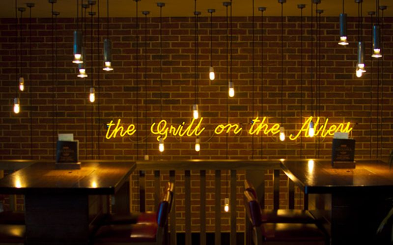 The Grill on the Alley - Filament Bulbs
