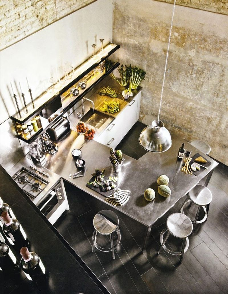 Industrial kitchen country farmhouse v urban chic for E kitchen by urban feast