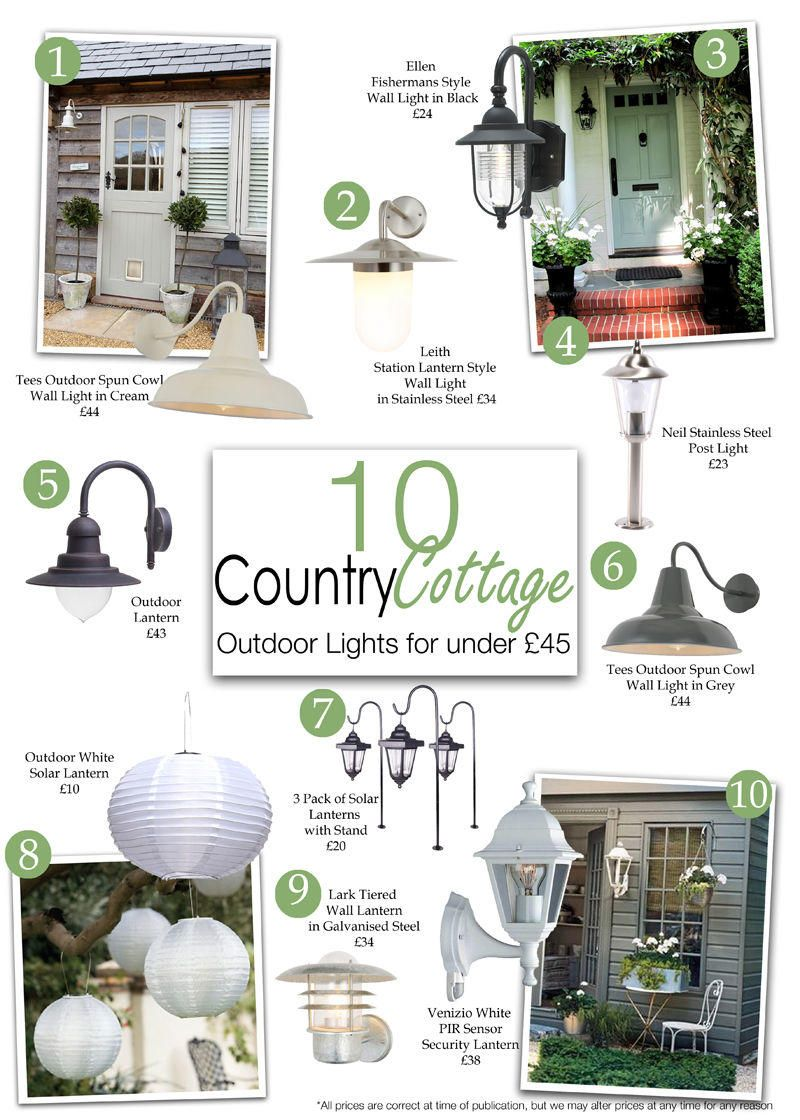 10 country cottage style outdoor lights for under 45 litecraft tees outdoor spun cowl wall light cream aloadofball Gallery
