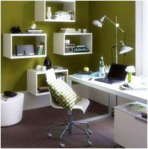 Office lighting shared from //www.ideashomedesign.net/small-home-office-ideas.html