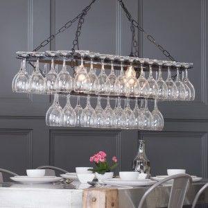 kitchen wine glass chandelier