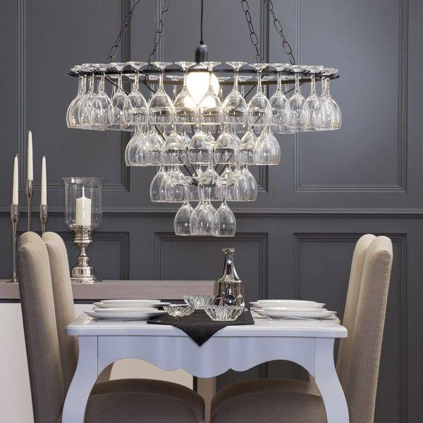 Chandeliers for low ceilings litecraft for Dining room lighting ideas uk