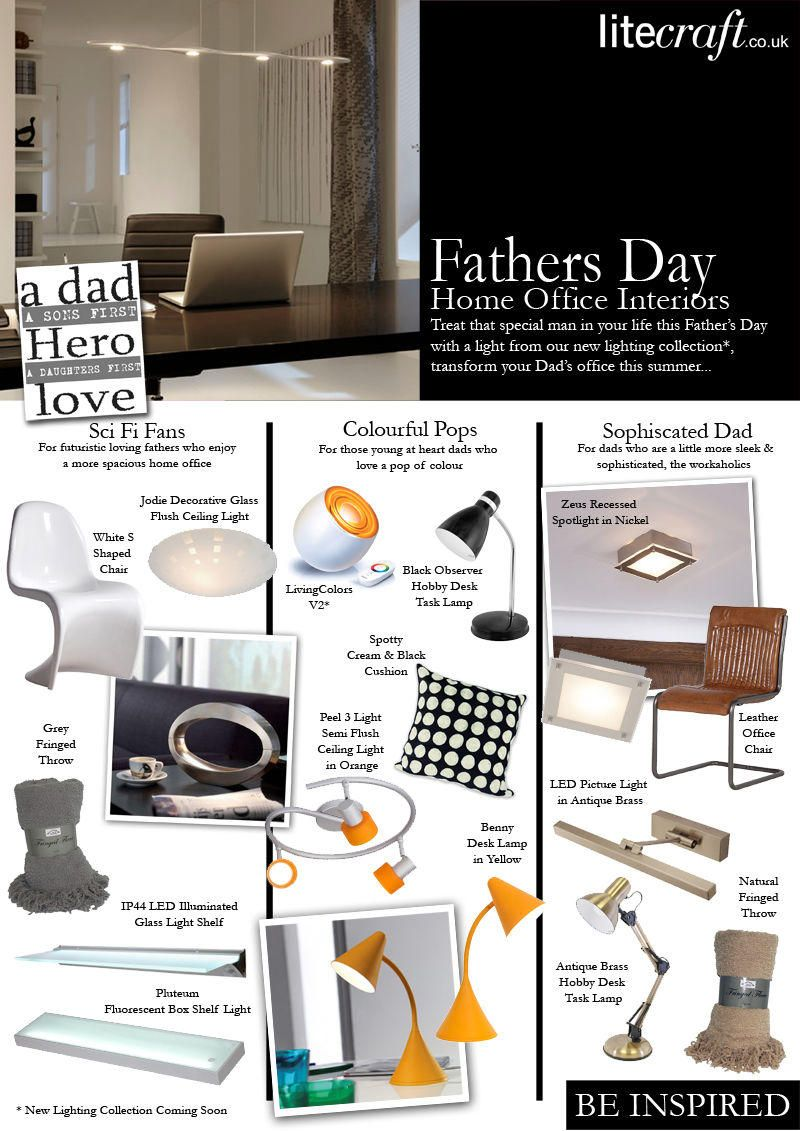 Home Office Lighting, Desk Lamps & Fathers Day Look Book