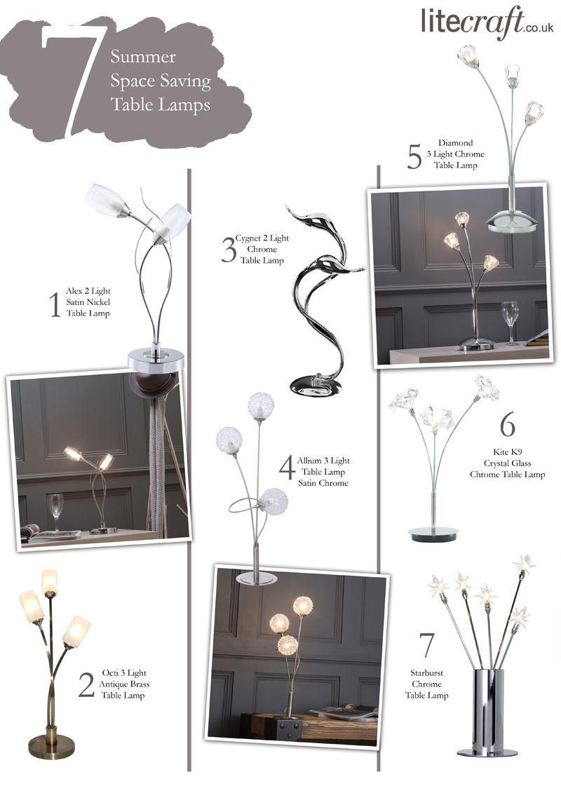 Top 7 Summer Space Saving Table Lamps