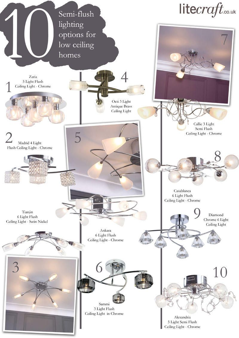Top 10 Semi-Flush lighting options for low ceilings from Litecraft