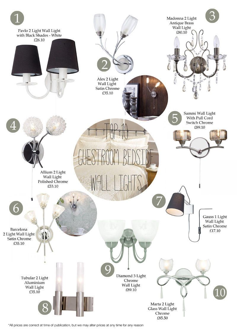 Top 10 Guest Room Bedside Wall Lights from Litecraft
