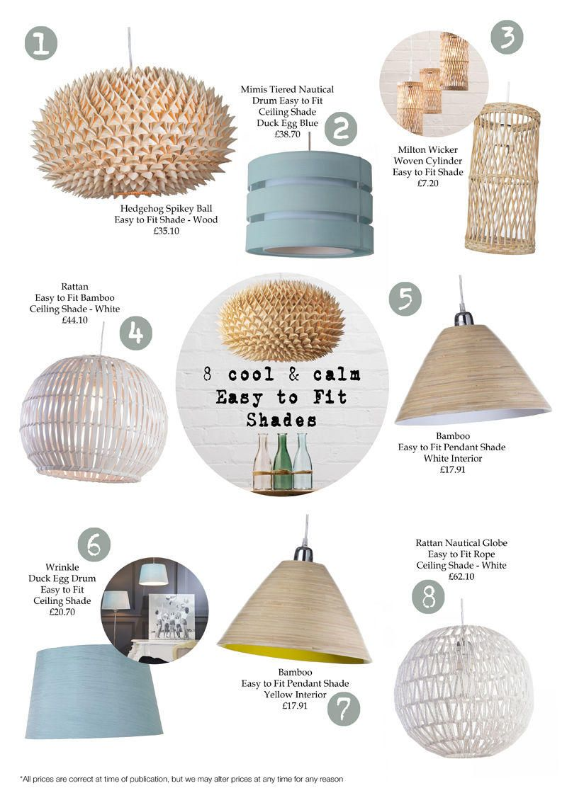 8 of the best Cool and Calm Easy to Fit Ceiling Lights