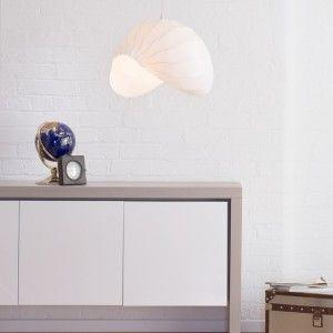 Modern white acrylic structured light shade