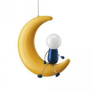 Moon man ceiling light for kids bedroom