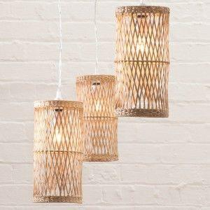 Natural style light shades wicker Litecraft