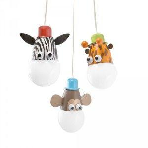 Childrens animal light zoo pendant light
