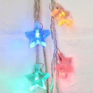 novelty star shaped string lights teenage bedroom