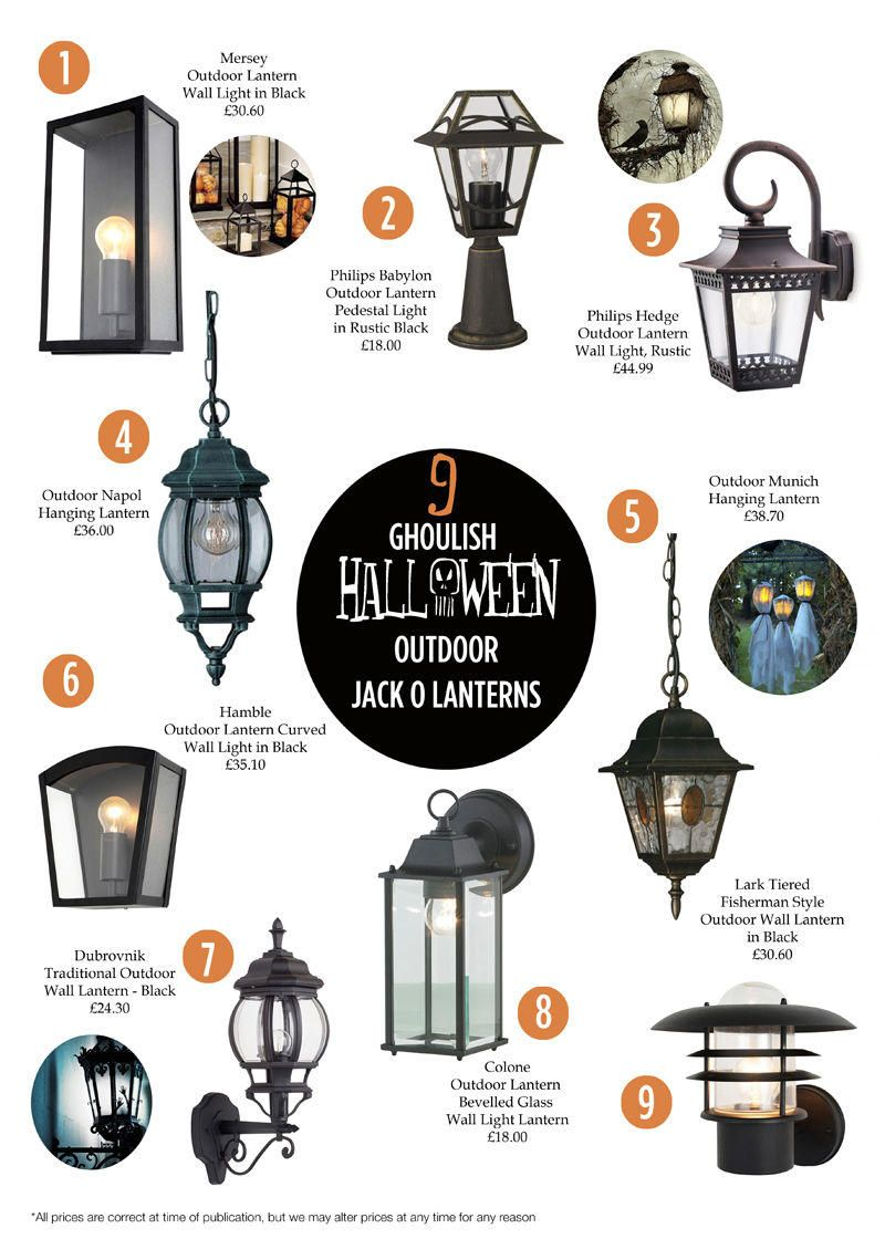9 Ghoulish Halloween Outdoor Lanterns