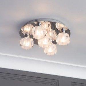 semi flush chrome ceiling light for small rooms