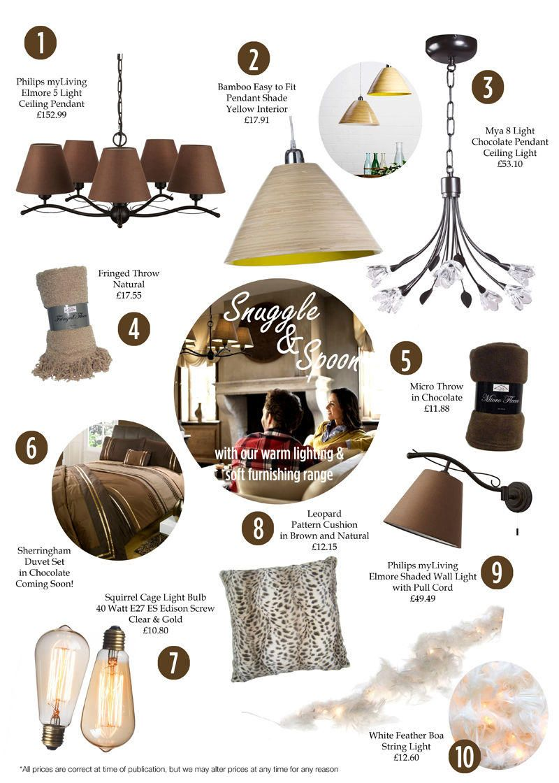 Get cosy with our Snuggle and Spoon Autumn Lighting Collection