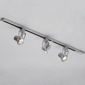 3 light track light aluminium