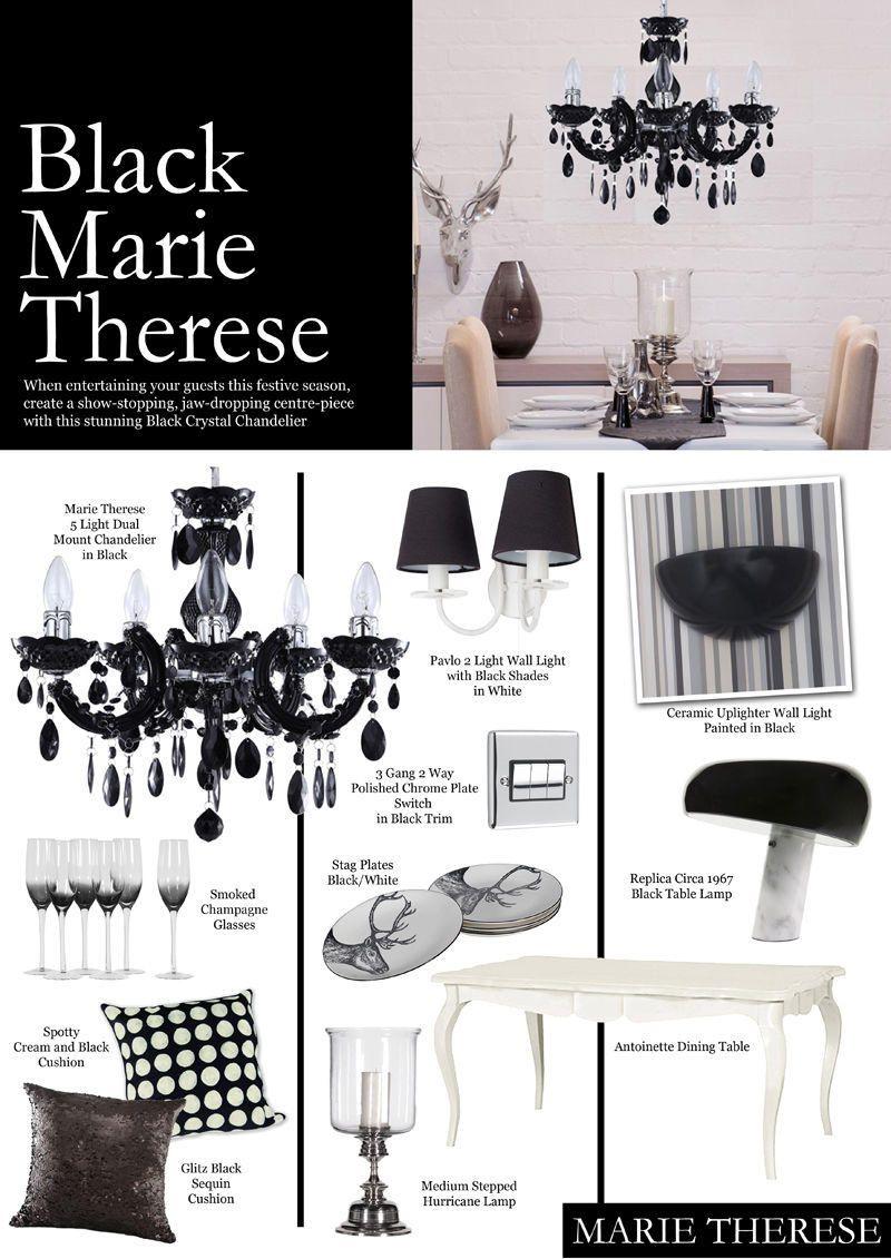 Crystal Week : Black Marie Therese Crystal Chandelier