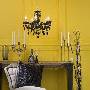 Coloured chandelier black Marie Therese chandelier