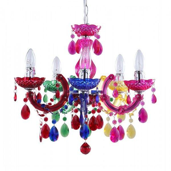 How to make a style statement with coloured chandeliers litecraft multi coloured chandelier marie therese colourful chandeliers mozeypictures Choice Image